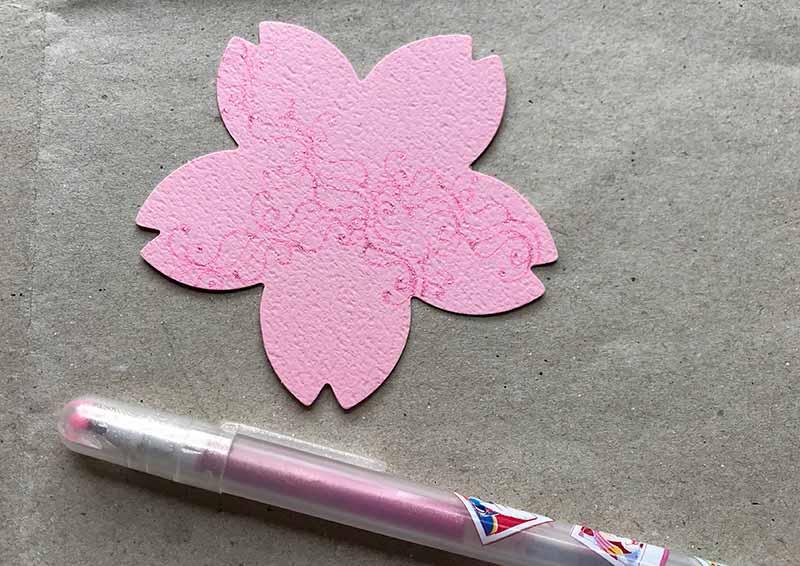 桜のゼンタングル(zentangle)