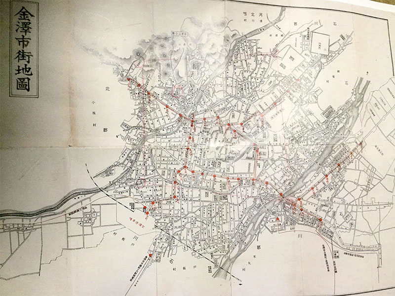 金沢五社巡り・金沢古地図