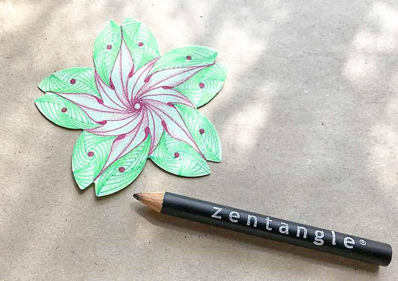 桜とゼンタングル(zentangle)