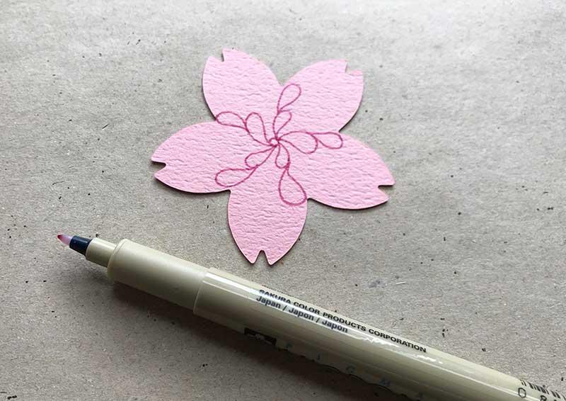 桜とゼンタングル(zentngle)