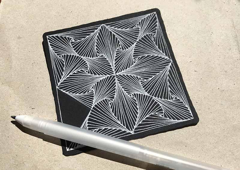 ゼンタングル(zentangle)ブラックタイル