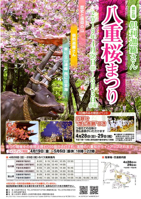 倶利伽羅八重桜まつり