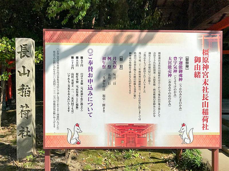 橿原神宮・長山稲荷社