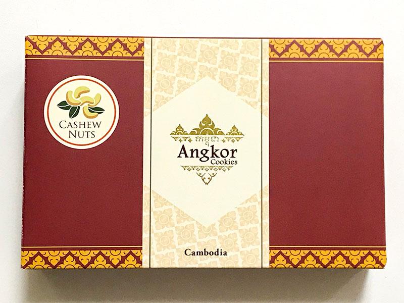カンボジア土産・アンコールワット型クッキー