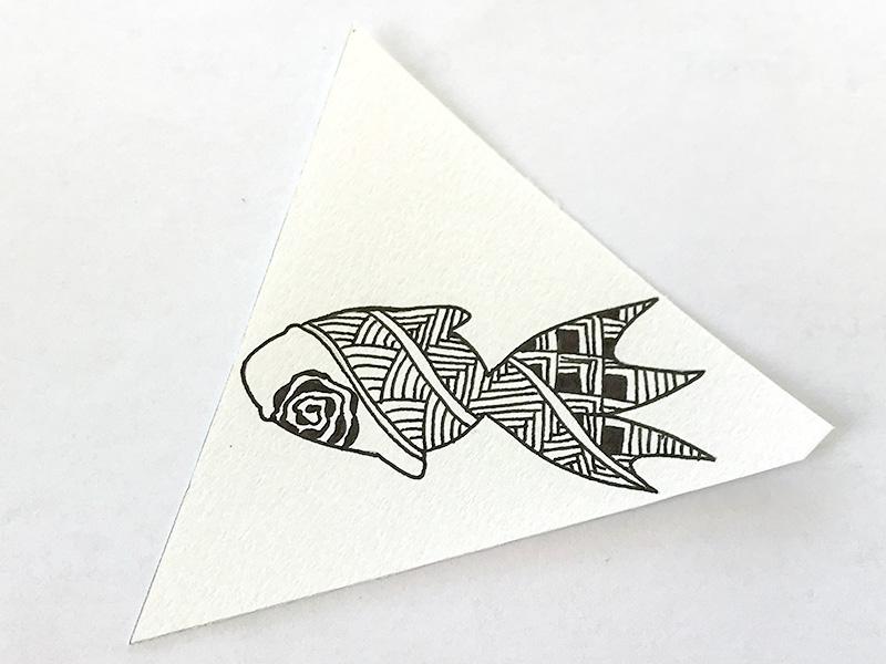 金魚とゼンタングル(zentangle)