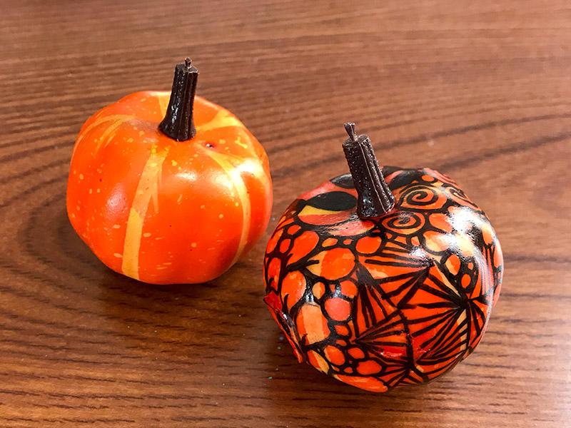 かぼちゃとゼンタングル(zentangle)