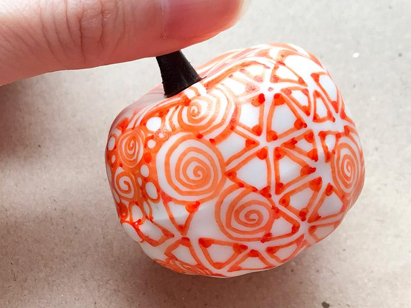 かぼちゃとゼンタングル(zentangle pumpkin)