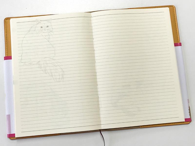 なぞり猫手帳