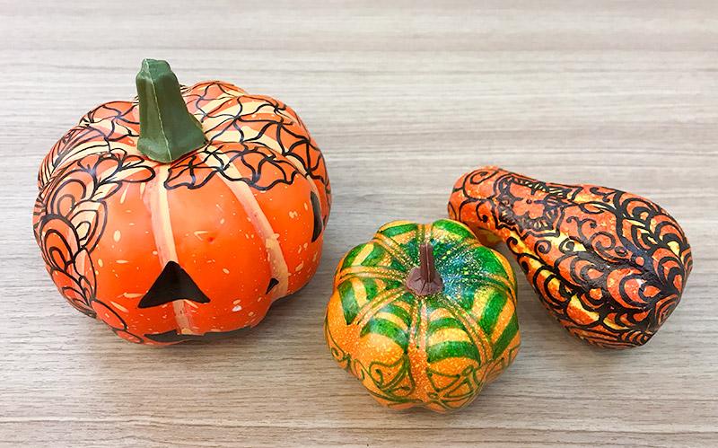 かぼちゃゼンタングル(zentangle)