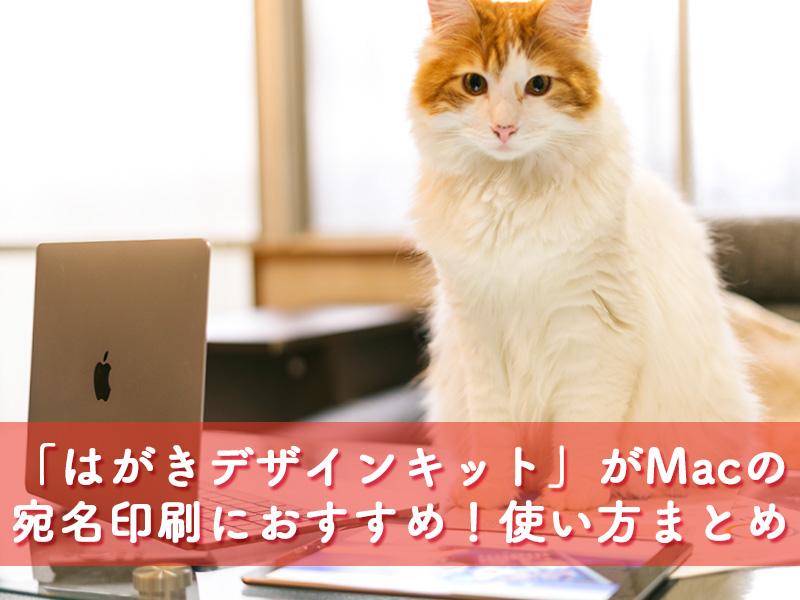Macの宛名印刷おすすめは「はがきデザインキット」