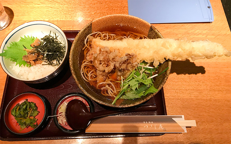 羽田空港つきじ庵穴子蕎麦