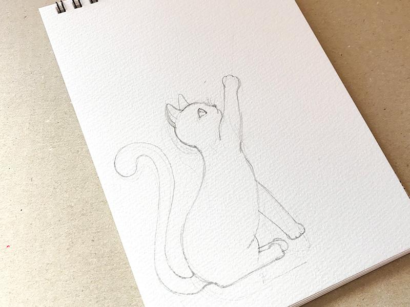 zentangle(ゼンタングル)と猫