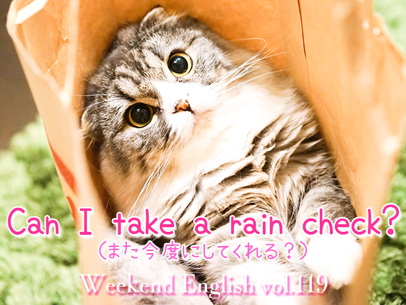 週末英語(weekend english)can i take a rain check