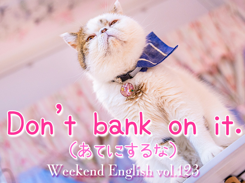 週末英語(weekend english)Don't bank on it.「当てにするな」