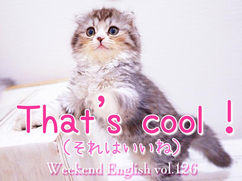 週末英語(weekend English)that's cool