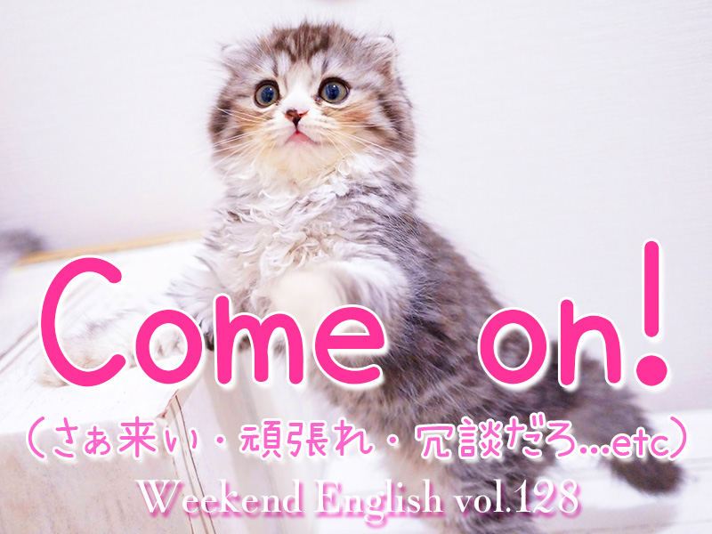 週末英語(weekend english)「come on」