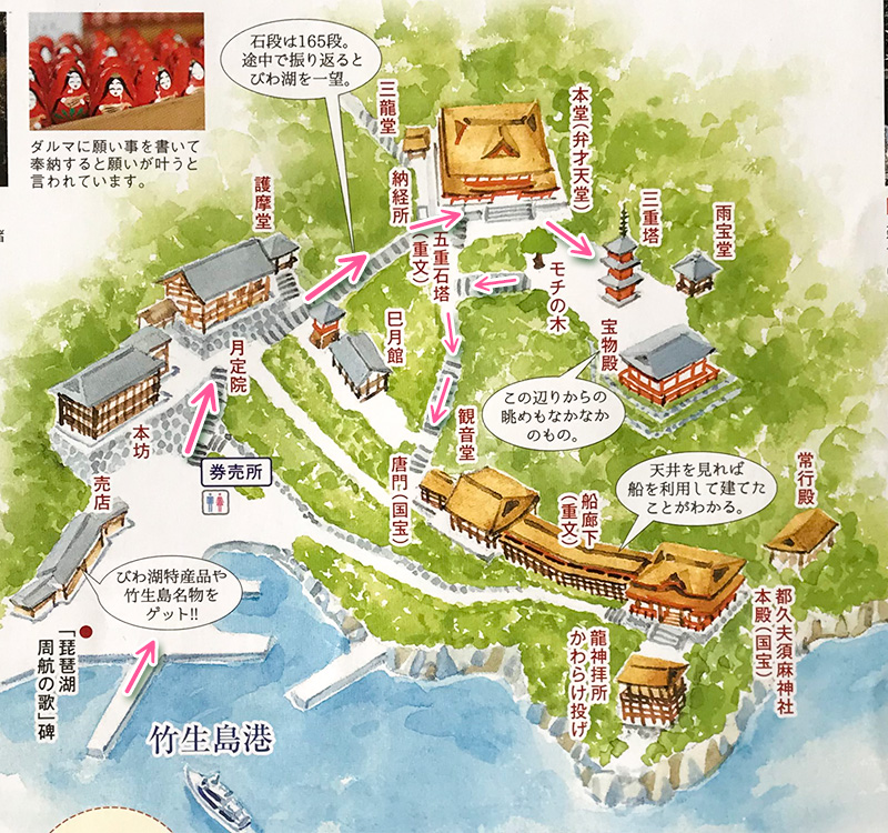 竹生島マップ