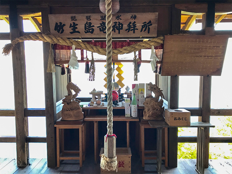 竹生島神社かわらけ投げ