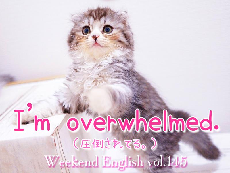 週末英語(weekend english)「i am overwhelmed(圧倒されてる)」