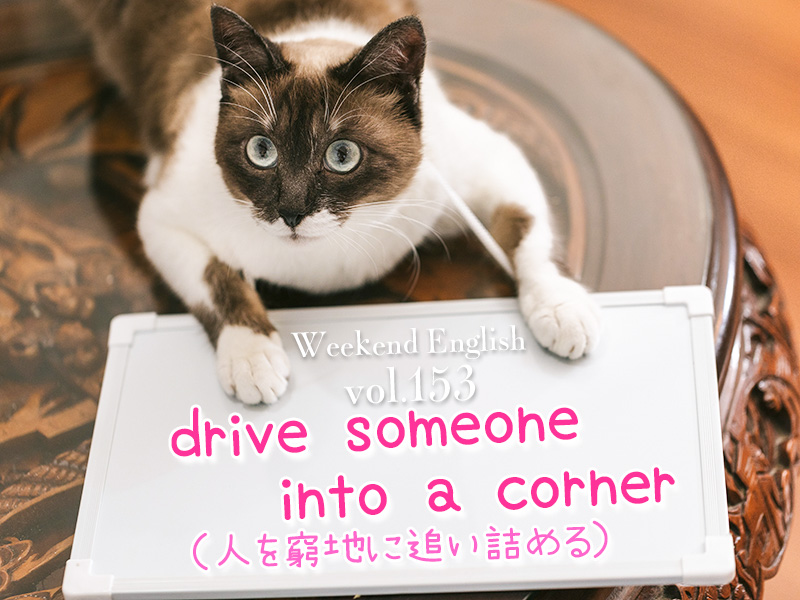 週末英語(weekend english)drive someone into a corner「人を窮地に追い詰める」