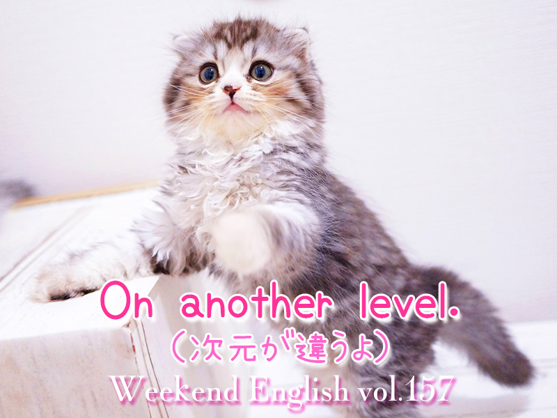 週末英語(weekend english)On another level.(次元が違う)