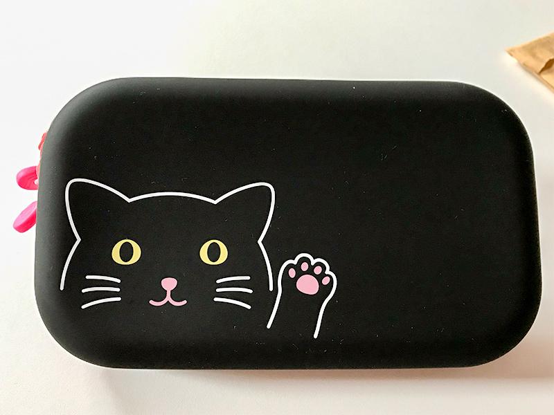 リヒトラブ シリコン製猫のファスナーポーチ