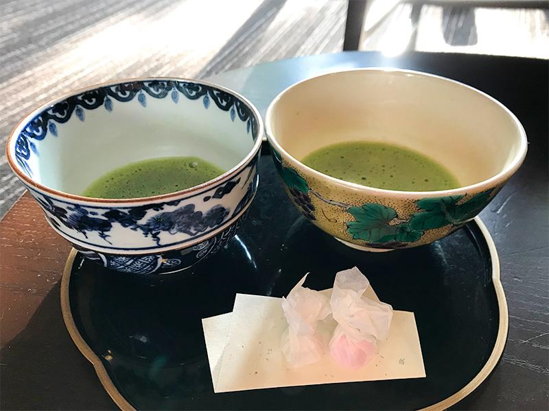 星野リゾート界加賀・お抹茶のふるまい