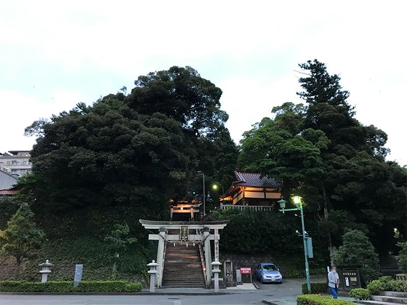 山代温泉ライトアップ服部神社
