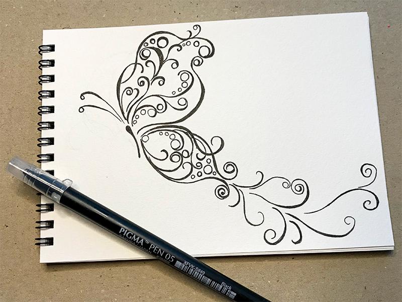 ゼンタングル(zentangle)蝶