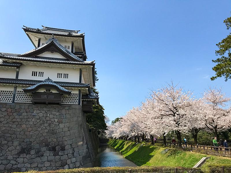 金沢城石垣めぐり(菱櫓・五十間長屋・橋爪門続櫓)