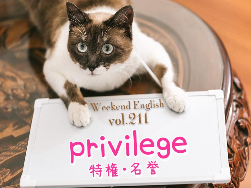 週末英語(weekend english)privilege(特権・名誉)