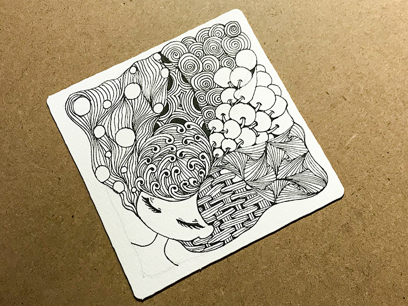 ゼンタングル(zentangle)Zen Kin®︎ Cousin project