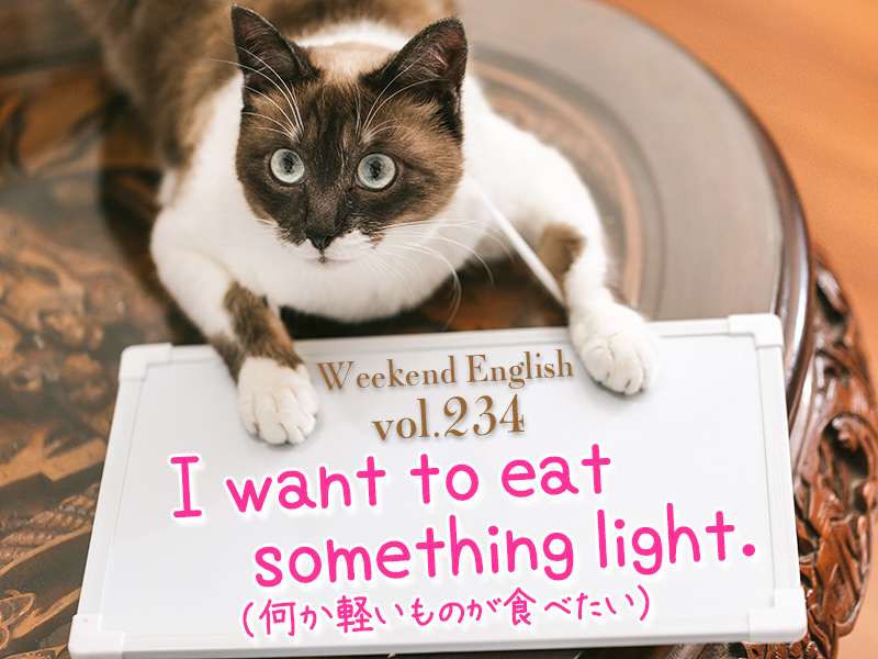 I want to eat something light(何か軽いものが食べたい)
