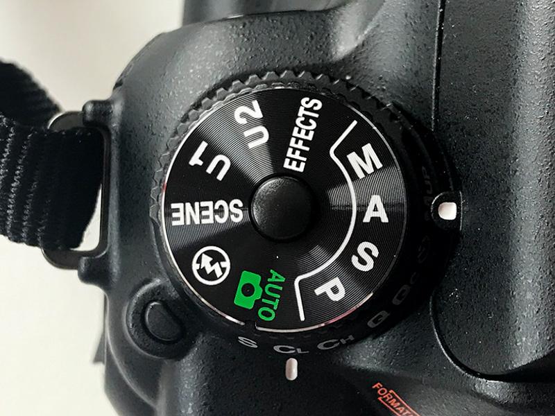 一眼レフカメラ撮影モード