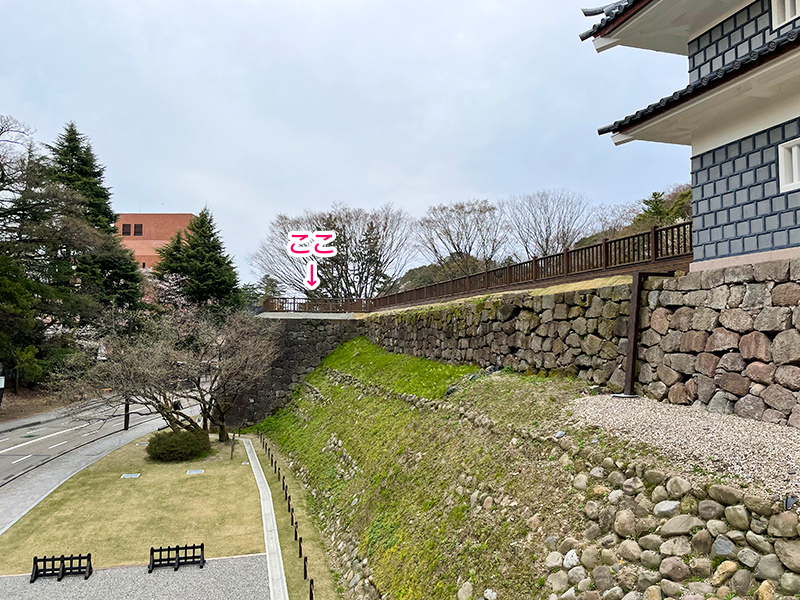 金沢城玉泉院丸鼠多門続櫓台石垣