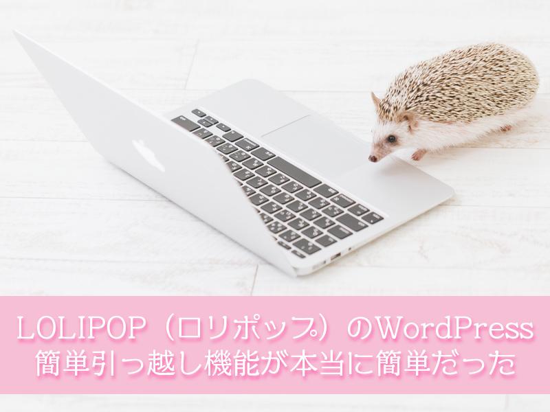 LOLIPOP(ロリポップ)のWordPress(ワードプレス)簡単引っ越し機能が本当に簡単だった