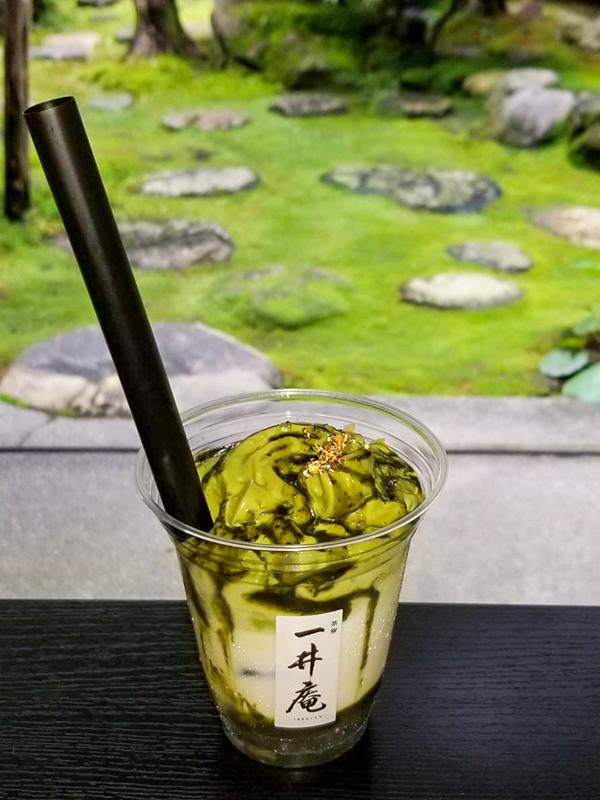金沢料亭大友楼、茶寮一井庵・濃厚抹茶わらび餅ドリンク