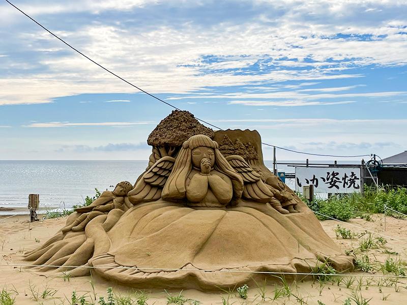 千里浜なぎさドライブウェイ・砂像