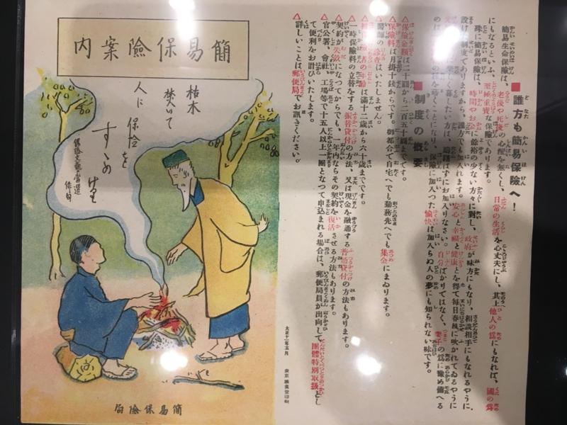 20170422 郵政博物館 昔の簡易保険のポスター
