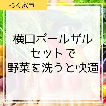 横口ボールザルセットで野菜を洗うと快適