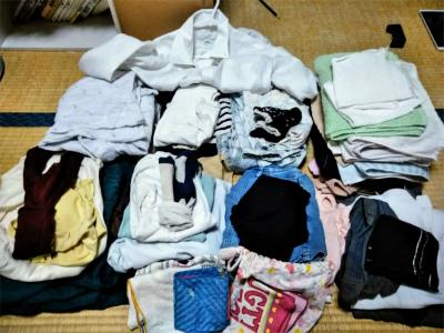 たたまれた洗濯物