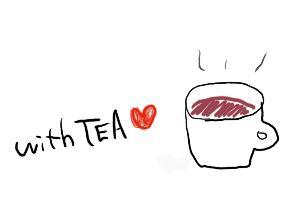with tea 紅茶のマグカップ