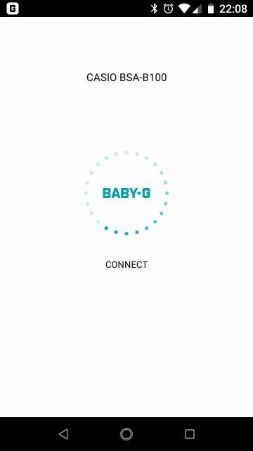 歩数計つき腕時計 Baby-G BSA-B100のアプリの画面