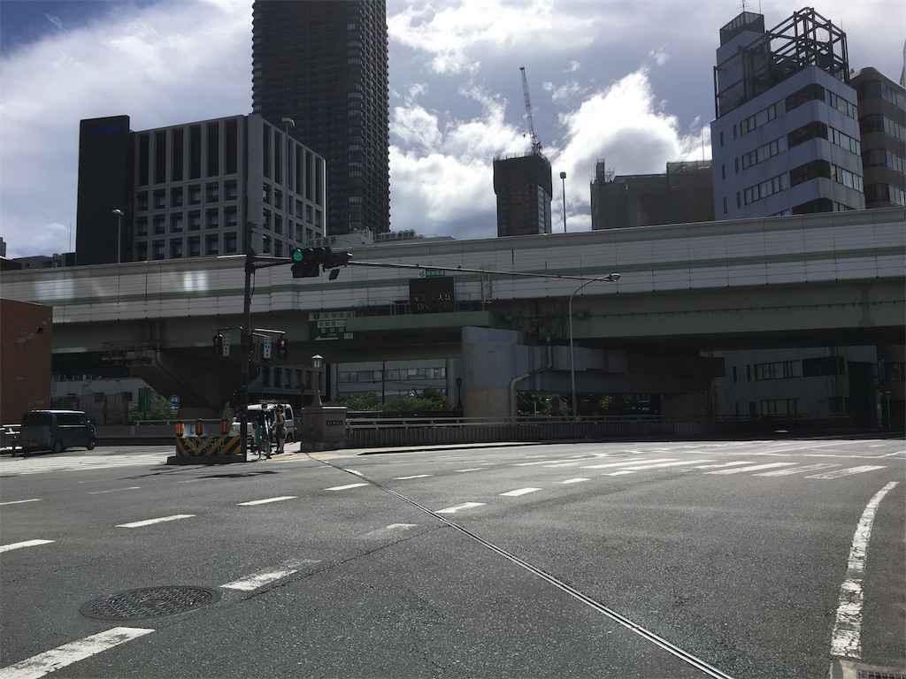 土佐堀通り 右が「葭屋橋」左が「今橋」