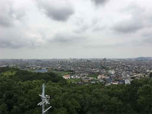 展望台(聖徳閣跡)日岡山公園