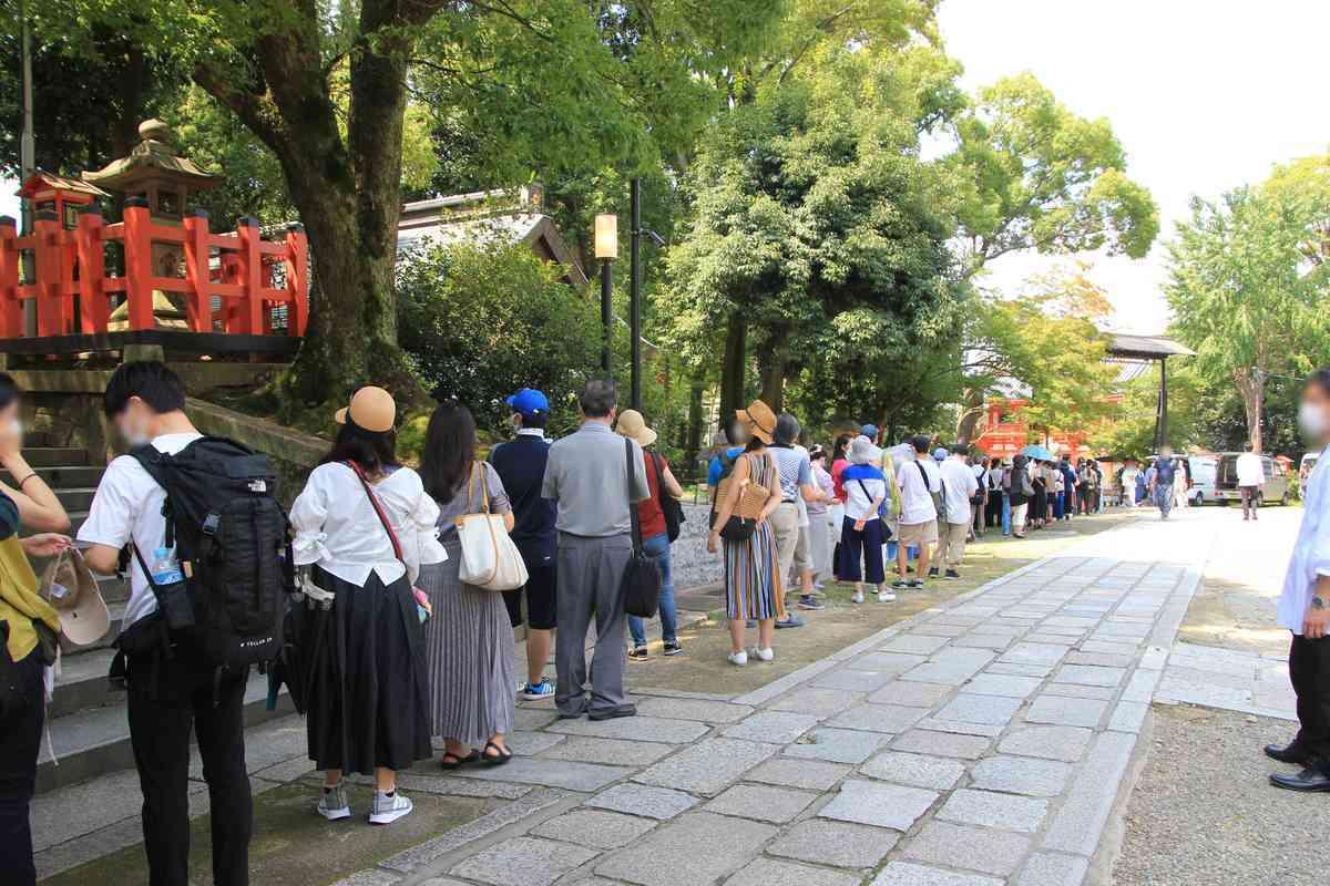 八坂神社疫神社夏越祭の茅の輪くぐりを