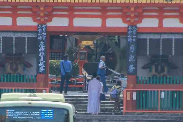 八坂神社疫神社夏越祭準備中