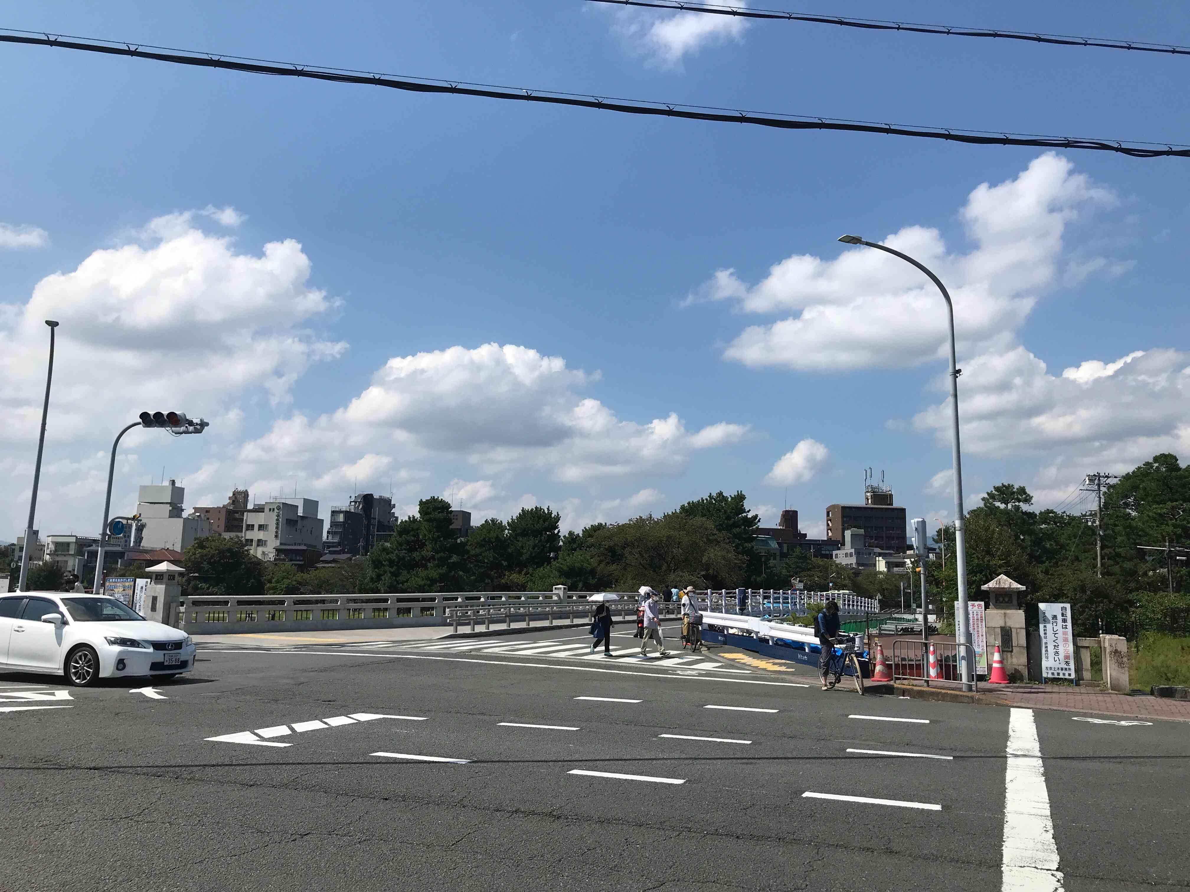 高野川に架かる河合橋