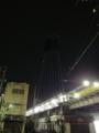 業平橋駅からスカイツリーを見上げる