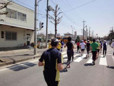 かすみがうらマラソン2010、8K地点